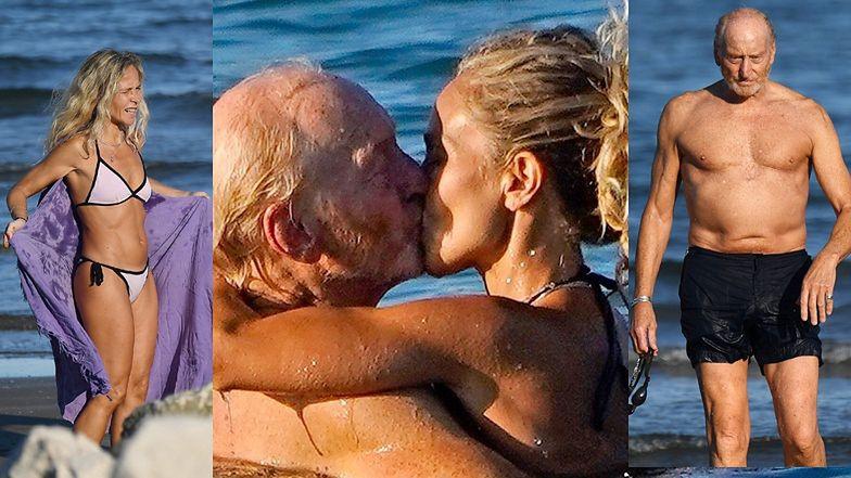 """73-letni aktor z """"Gry o tron"""" dokazuje w morzu z młodszą o 20 lat partnerką (ZDJĘCIA)"""