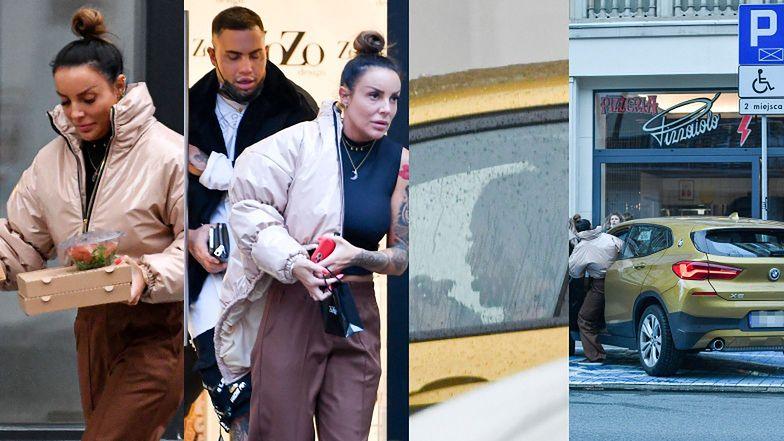 """Ata Postek z """"Hotelu Paradise"""" robi zakupy z BRATEM i pochłania pizzę w zaparkowanym na MIEJSCU DLA NIEPEŁNOSPRAWNYCH BMW!"""