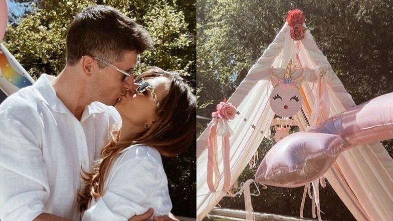Anna Lewandowska relacjonuje urodzinową imprezę córek: modny namiot, balonowe dekoracje i CAŁUŚNE zdjęcie z Robertem
