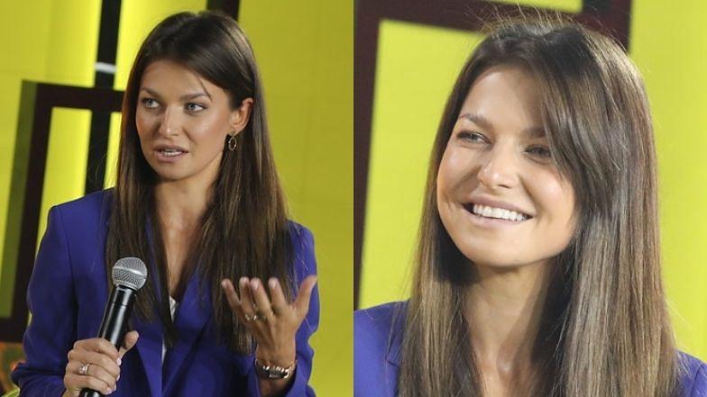 Elegancka Anna Lewandowska dzieli się biznesowym doświadczeniem na konferencji (ZDJĘCIA)