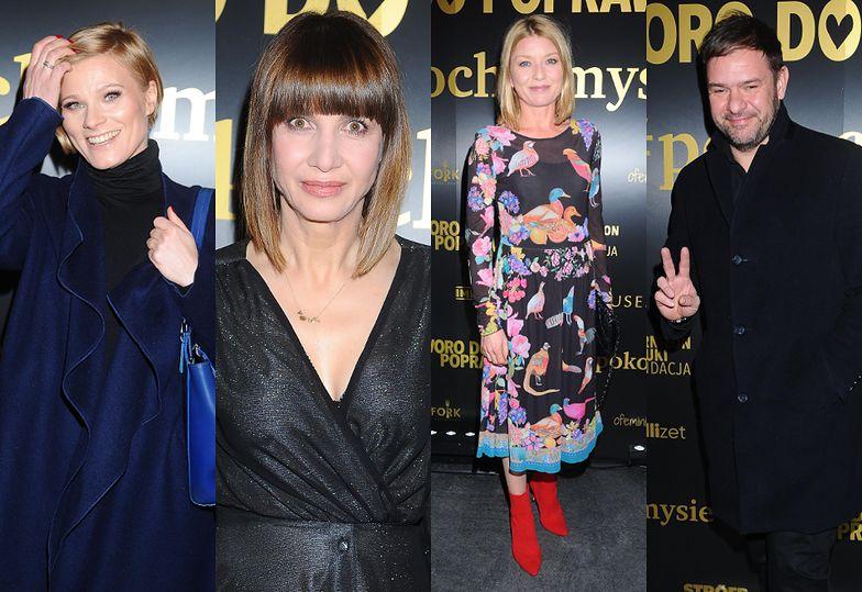 Gwiazdy spędzają piątkowy wieczór w teatrze: zakłopotana Głogowska, błyszcząca Wolszczak, zadowolony Karolak...