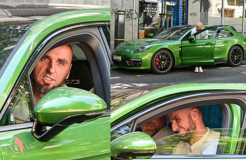 Gortat i jego Porsche dodają kolorytu ulicom Warszawy