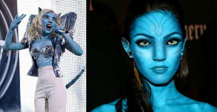 """Gwiazdy jako obcy z """"Avatara""""! (ZDJĘCIA)"""