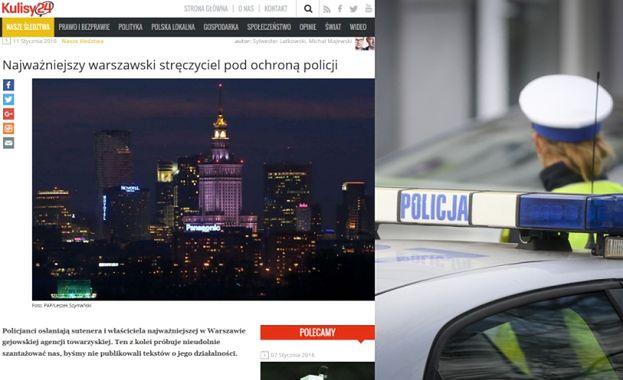 Kulisy 24: Warszawska policja ochrania stręczyciela gejowskiej agencji towarzyskiej!