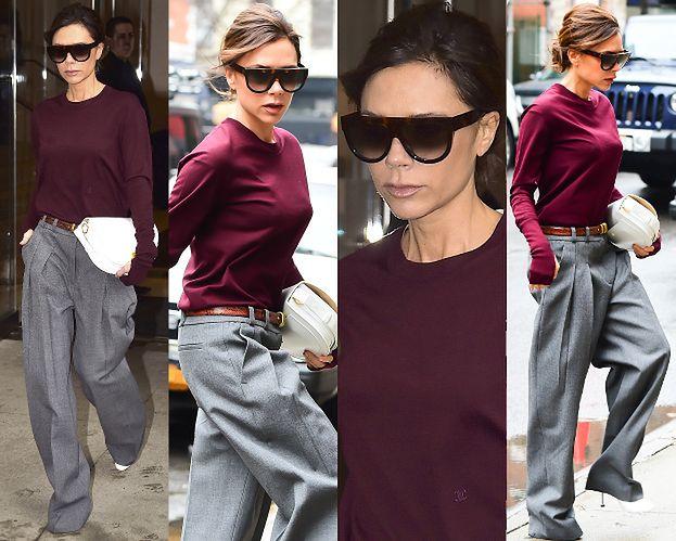 #TRENDY: Victoria Beckham w szerokich spodniach