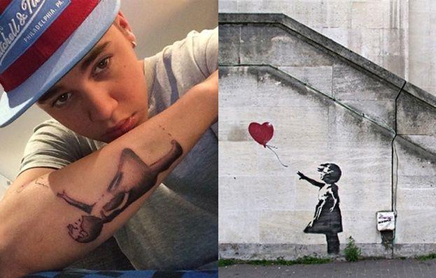 Bieber wytatuował sobie obraz Banksy'ego! (FOTO)
