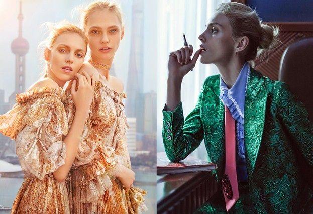 """Anja Rubik i Sasha Pivovarova na okładce """"Vogue'a""""!"""