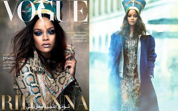 Rihanna pozuje w przebraniu Nefretete