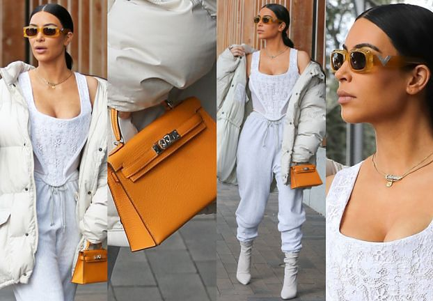 Wystylizowana Kim Kardashian z torebką za 21 tysięcy... (ZDJĘCIA)
