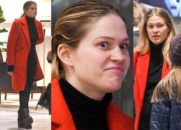 Ślotała bez makijażu na świątecznych zakupach (ZDJĘCIA)