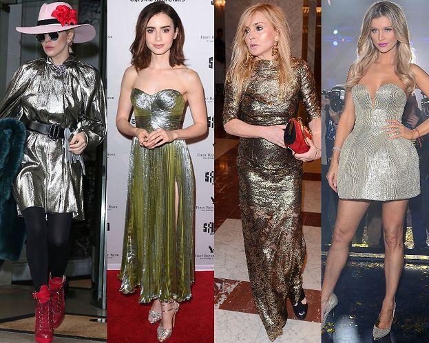 Gwiazdy w metalicznych sukienkach