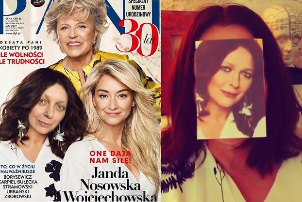 """Kasia Nosowska śmieje się z retuszu własnej twarzy na okładce """"Pani"""": """"Czy o takie okładki walczyli nasi pradziadowie?"""""""