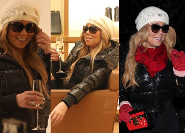 Mariah Carey pije szampana w butiku Louis Vuitton (ZDJĘCIA)