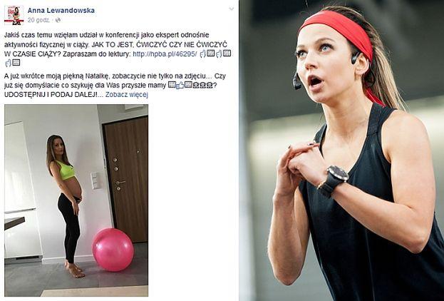 Ania Lewandowska też doradza kobietom w ciąży...