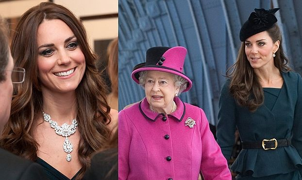 Królowa Elżbieta pożycza Kate biżuterię!