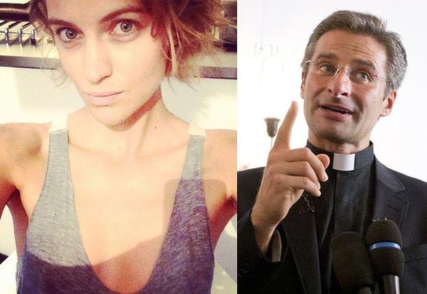 """Dziewczyna Wojewódzkiego o księdzu-geju: """"Pierwsza wyzwolona dusza w Kościele! Duma"""""""