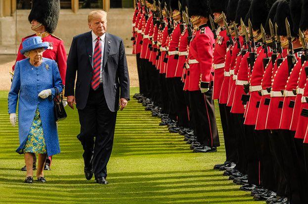 Donald Trump został zaproszony do Wielkiej Brytanii przez królową Elżbietę