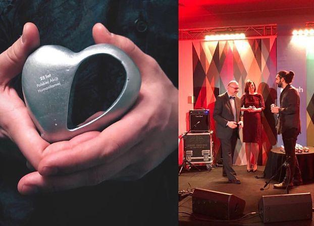 TYLKO U NAS: Niedoszły szwagier Dody dostał nagrodę od Polskiej Akcji Humanitarnej!