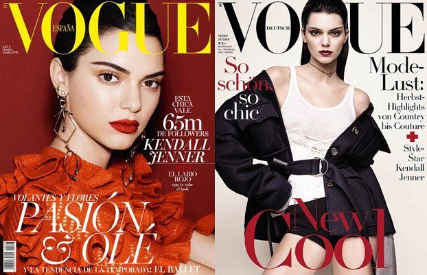 """Kendall Jenner na CZTERECH okładkach """"Vogue'a"""""""