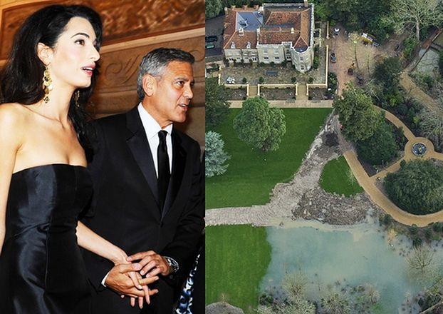 Powódź zalała brytyjską rezydencję Clooneya! Była warta 60 milionów...