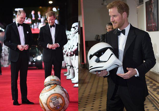 """Książę William i Harry świętują premierę """"Gwiezdnych Wojen"""" (ZDJĘCIA)"""