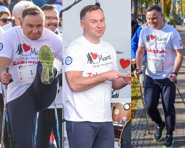 """Zaangażowany Andrzej Duda wziął udział w marszu """"Tak dla transplantacji"""" (ZDJĘCIA)"""