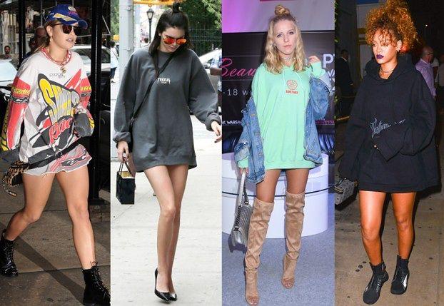 Moda na oversize: gwiazdy w dresowych bluzach