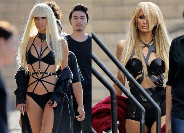 Paris Hilton nagrywa teledysk... W STROJU SADO-MASO! (ZDJĘCIA)