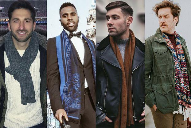 Jakie szaliki męskie wybierają gwiazdy?