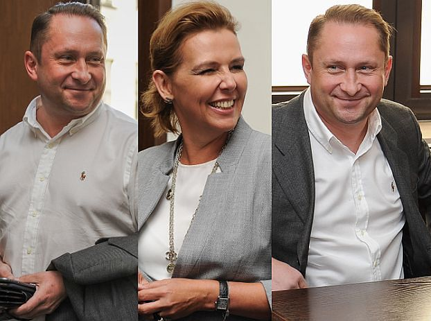 Uśmiechnięty Durczok z żoną w sądzie (ZDJĘCIA)