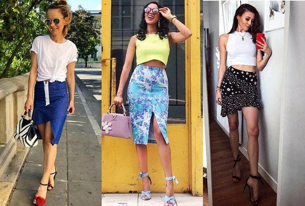 Najmodniejsze letnie spódnice w stylizacjach gwiazd