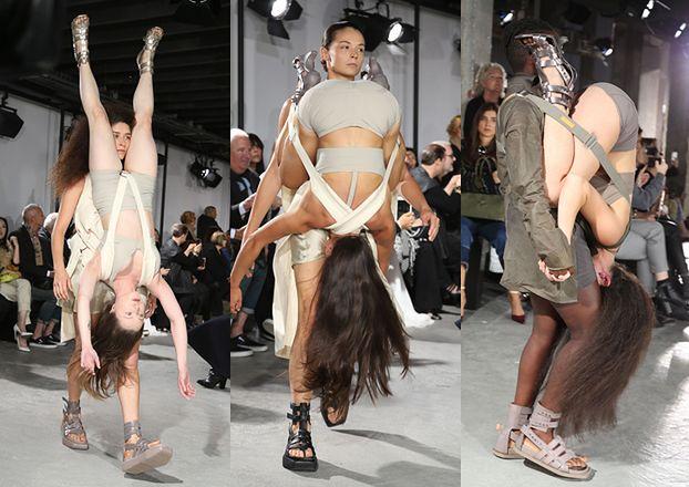 Modelki na pokazie ubrane... w inne modelki! (ZDJĘCIA)