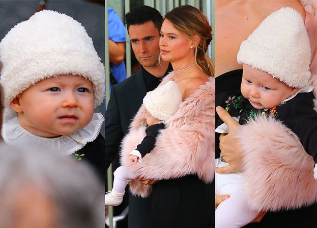 Adam Levine z 5-miesięczną córeczką podczas gali w Alei Sław! (ZDJĘCIA)