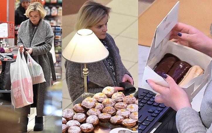 Monika Zamachowska kupuje eklery... (ZDJĘCIA)