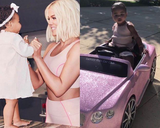 """Khloe Kardashian krytykowana za sprezentowanie córce zabawkowego Bentleya. """"Jesteś BEZWARTOŚCIOWĄ MATERIALISTKĄ"""""""