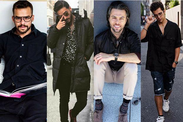 Męska czarna koszula - styl biznesowy w wydaniu celebrytów