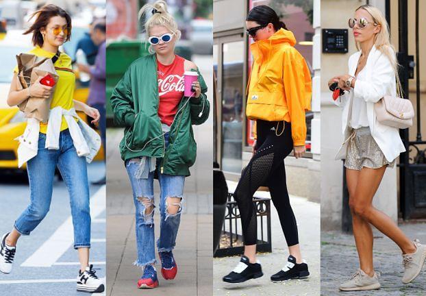 Celebrytki noszą sportowe buty