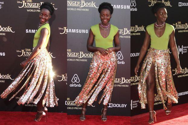 Lupita Nyong'o we frędzlach i cekinach na premierze