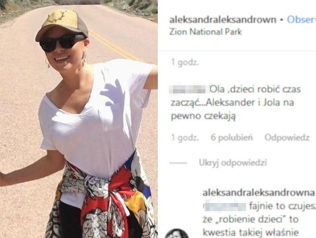 """Fanka atakuje Olę Kwaśniewską: """"Dzieci robić czas zacząć. Aleksander i Jola czekają"""""""