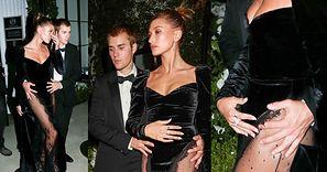 Hailey Bieber opuszcza imprezę z Justinem Bieberem, TRZYMAJĄC SIĘ ZA BRZUCH (ZDJĘCIA)