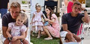 Zamyślony Jakub Rzeźniczak świętuje czwarte urodziny córki Inez (ZDJĘCIA)