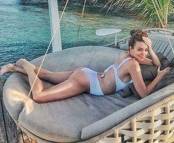 """Internautki krytykują Anię Wendzikowską za leżenie na brzuchu w ciąży: """"Niesmaczne zdjęcie. D*pę pokazywać całemu światu?"""""""