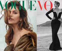 """Cindy Crawford kusi otwartymi ustami na okładce """"Vogue'a"""""""