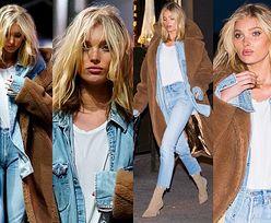#TRENDY: Elsa Hosk w dżinsowym komplecie