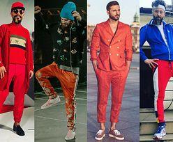 Czerwone spodnie w odważnych stylizacjach celebrytów
