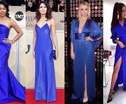 Piękne szafirowe sukienki w stylizacjach gwiazd