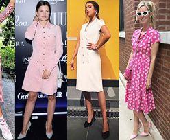 Jakie sukienki na guziki wybierają celebrytki?