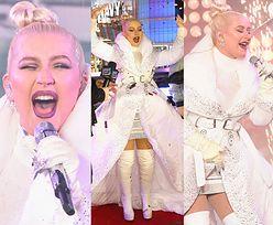 Okazała Christina Aguilera żegna 2018 rok w płaszczu z kołdry