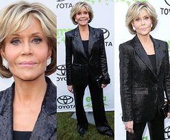 80-letnia Jane Fonda pozuje z przydeptanymi nogawkami