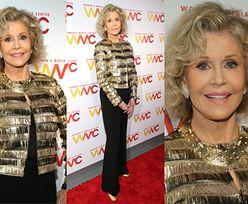 Szczęśliwa Jane Fonda błyszczy na gali Woman's Media Awards
